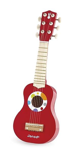 Janod - Mi primera guitarra de juguete, Confetti (J07628): Amazon.es: Juguetes y juegos