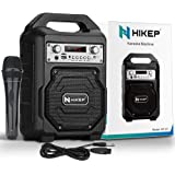 HIKEP Portable Karaoke Machine for Kids & Adults, Bluetooth Speaker with Wired Microphone for Party, Wireless PA Sound…