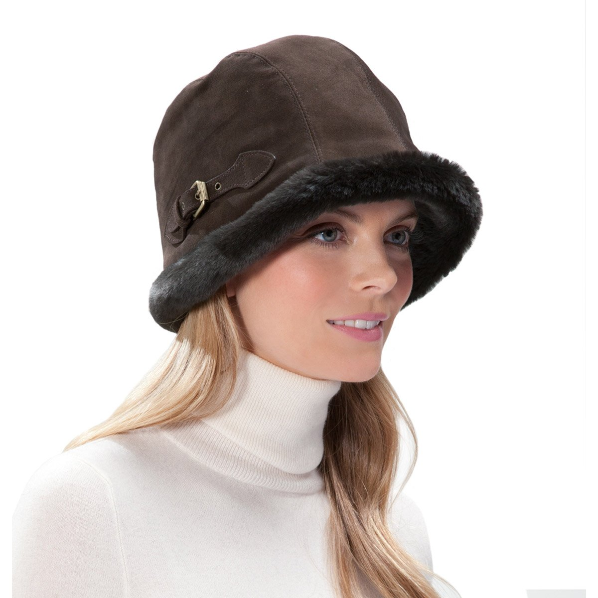 Eric Javits Luxury Fashion Designer Women's Headwear Hat - Vail - Brown by Eric Javits
