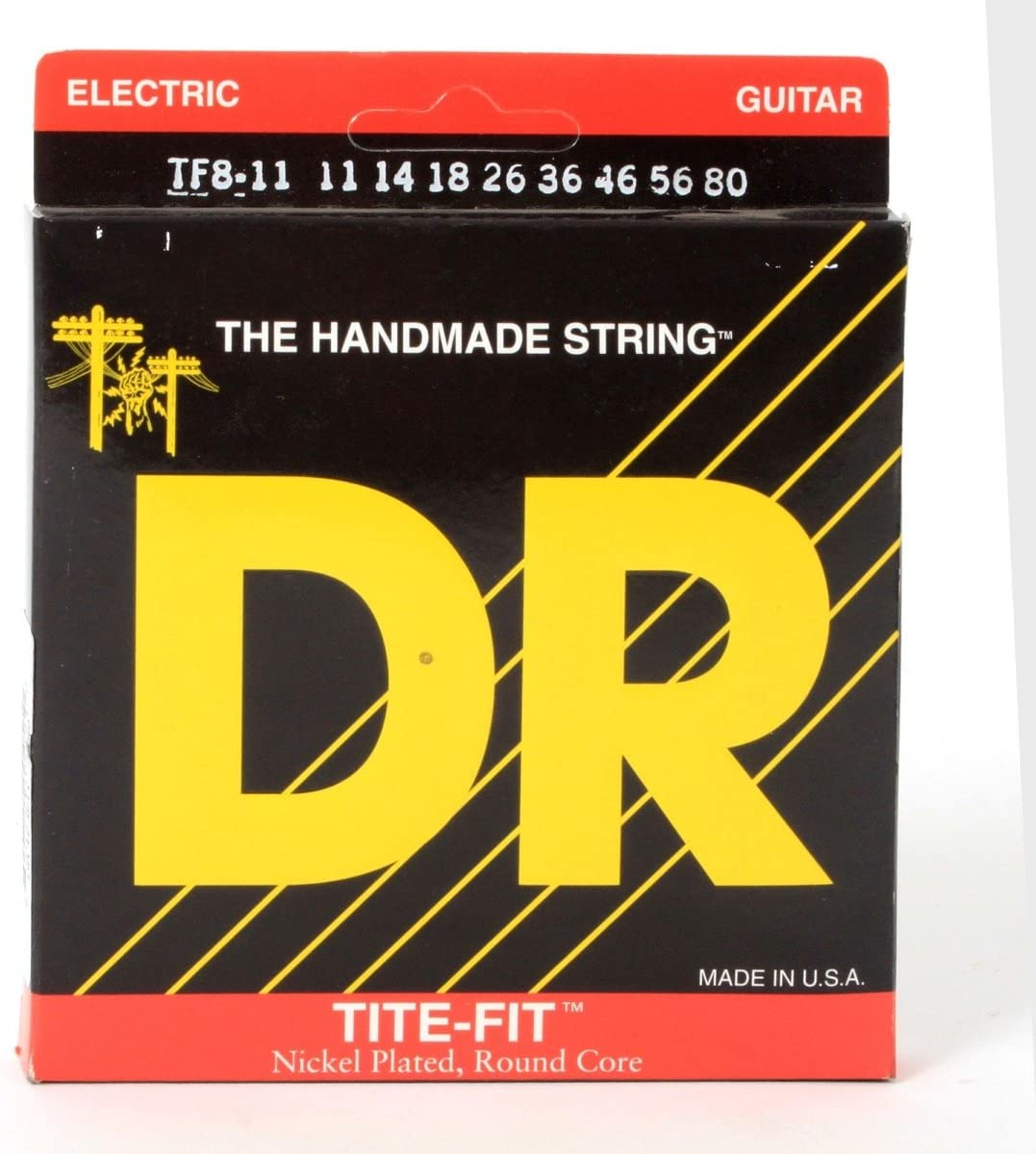DR Tite Fit TF8-11 Electric Guitar Strings 8-String set  11-80