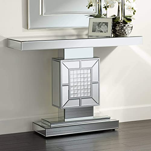 Medina 44 Wide Mosaic Mirrored Console Table – Studio 55D