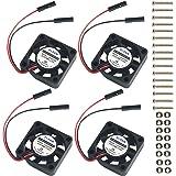 4個 Raspberry Pi DCブラシレス冷却ファンヒートシンク冷却ラジエータコネクタRaspberry Pi 2 / Pi 3 / 3B +およびPiゼロ/ゼロWまたはその他のロボットプロジェクト用の1対2インターフェース3.3V 5Vを分離