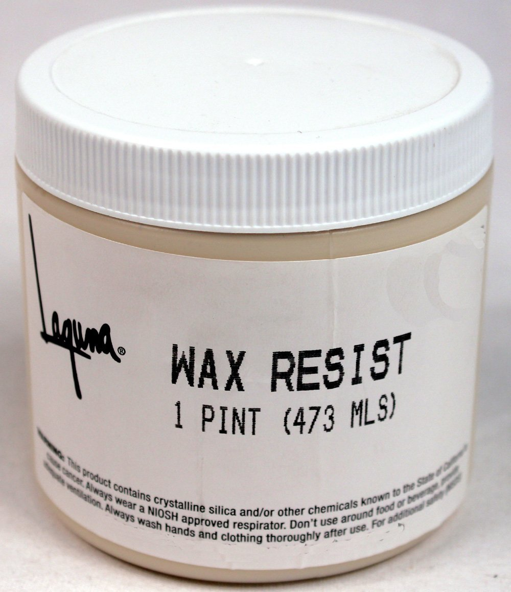 Wax resist pint by Laguna Clay