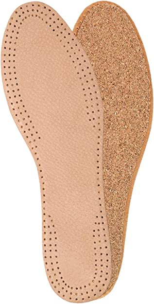 LEATHER /& CORK DELUXE INSOLES TAN INSOLES