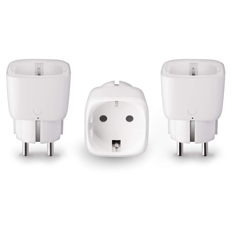 Innr Drei Pack mit 3 SmartPlug, intelligente funkgeschaltete Steckdose, Philips Hue* & Echo Plus kompatibel, SP 120-3