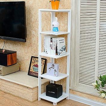 Chen  Schlafzimmer Ecke Bücherregal Eckstand Wohnzimmer Regal Blumenregal  Regal Ecke Modern Einfach