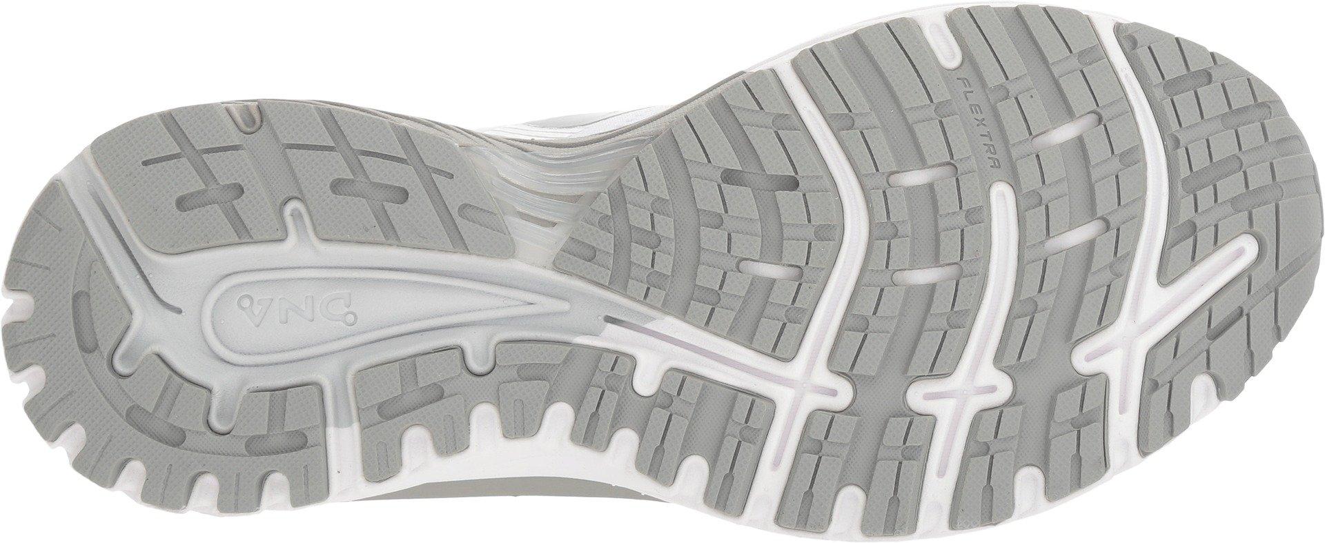 Brooks Women's Adrenaline GTS 18 White/White/Grey 5 D US by Brooks (Image #3)