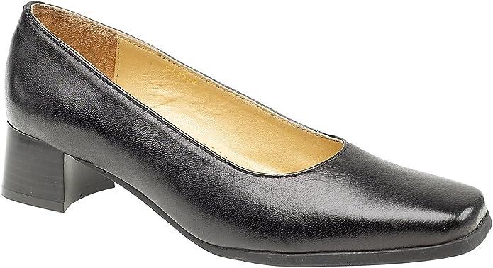 wide fit black court heels