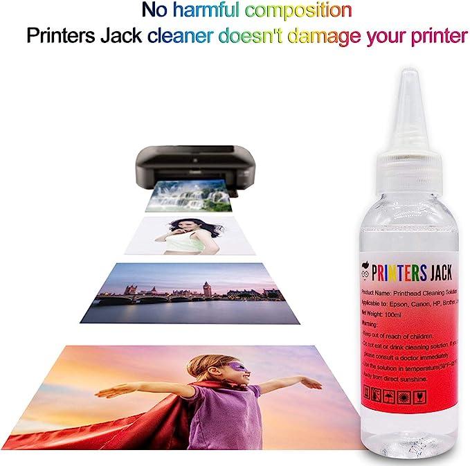 Amazon.com: Impresoras Jack 100 ml solución limpiadora de ...