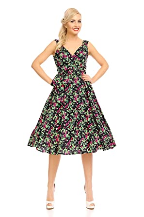 website for discount fashion styles good service Donna Retro Vintage Rockabilly Pin Up Vestitino stile anni ...