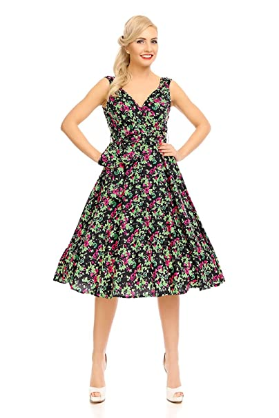 Looking Glam Vestido Retro Vintage Rockabilly 50s para Damas: Amazon.es: Ropa y accesorios