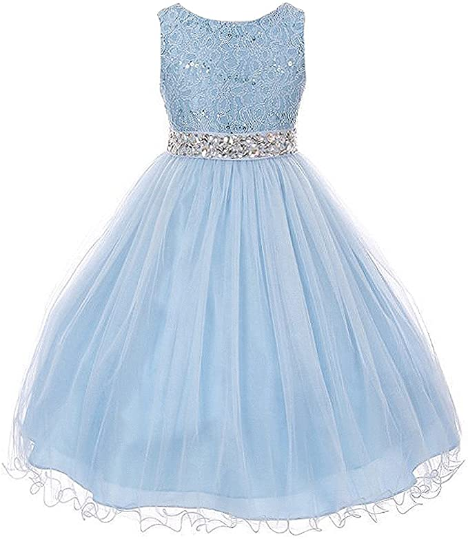 Amazon.com: Vestido de niña con parte superior ...