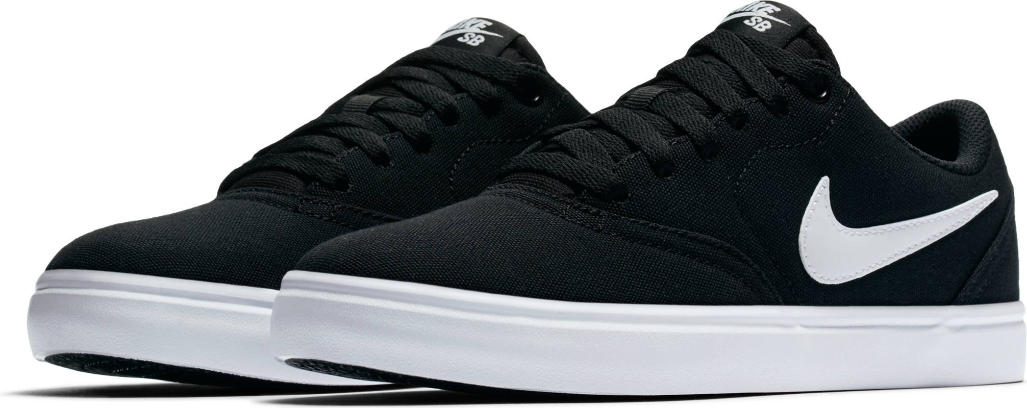 Nike New Women's SB Check Solar Canvas Skateboarding Shoe Black/White 7.5 by NIKE