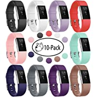 Fitbit Charge 2 Band, Fundro 2-Pack Silicone Sport Bracelet Strap Replacement Breathable Band for Fitbit Charge 2
