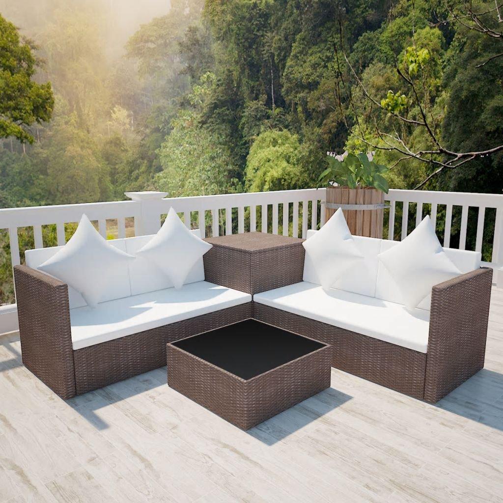 lingjiushopping Juego sofás de jardín 14 unidades de ...