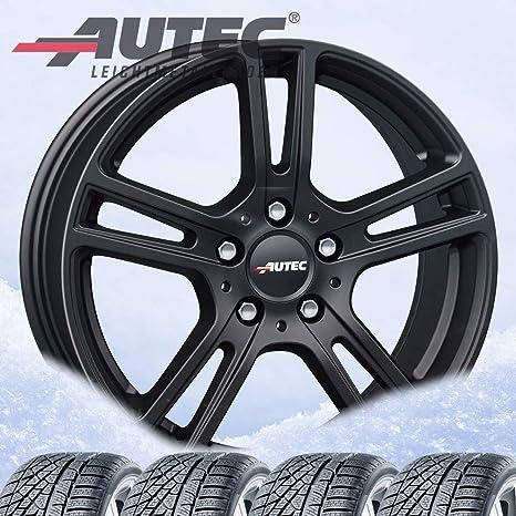 4 Invierno ruedas autec mugano 6,5 x 16 ET49 5 X 112 Negro Mate