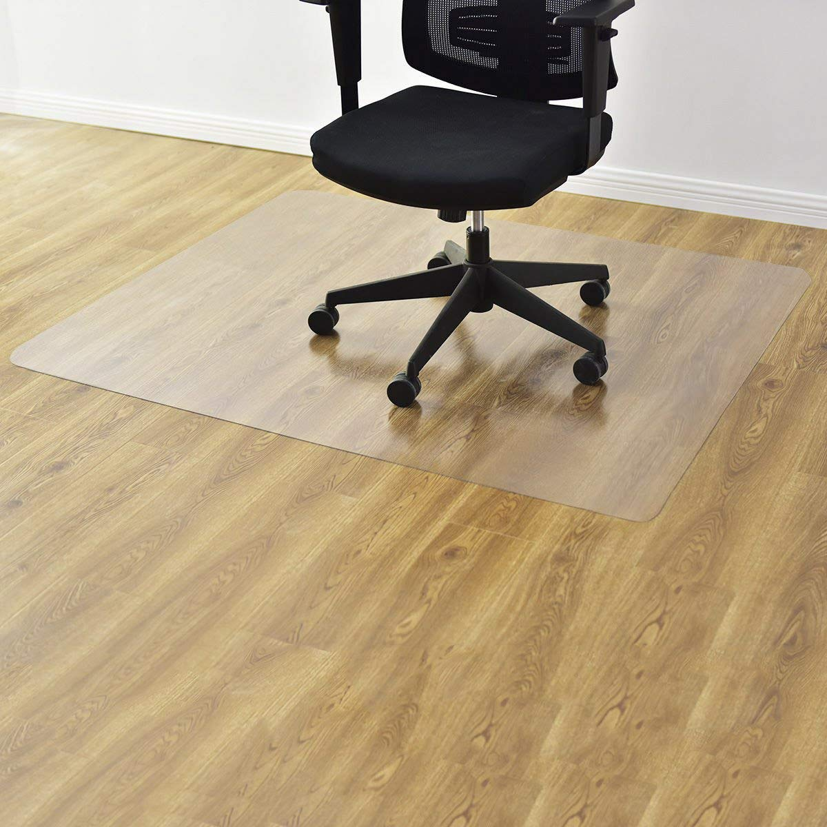 Goplus PVC Chair Mat for Hardwood Floor Clear Multi-Purpose Floor Protector for Office and Home Anti-Slip Floor Protective Mats (47'' x 59'')