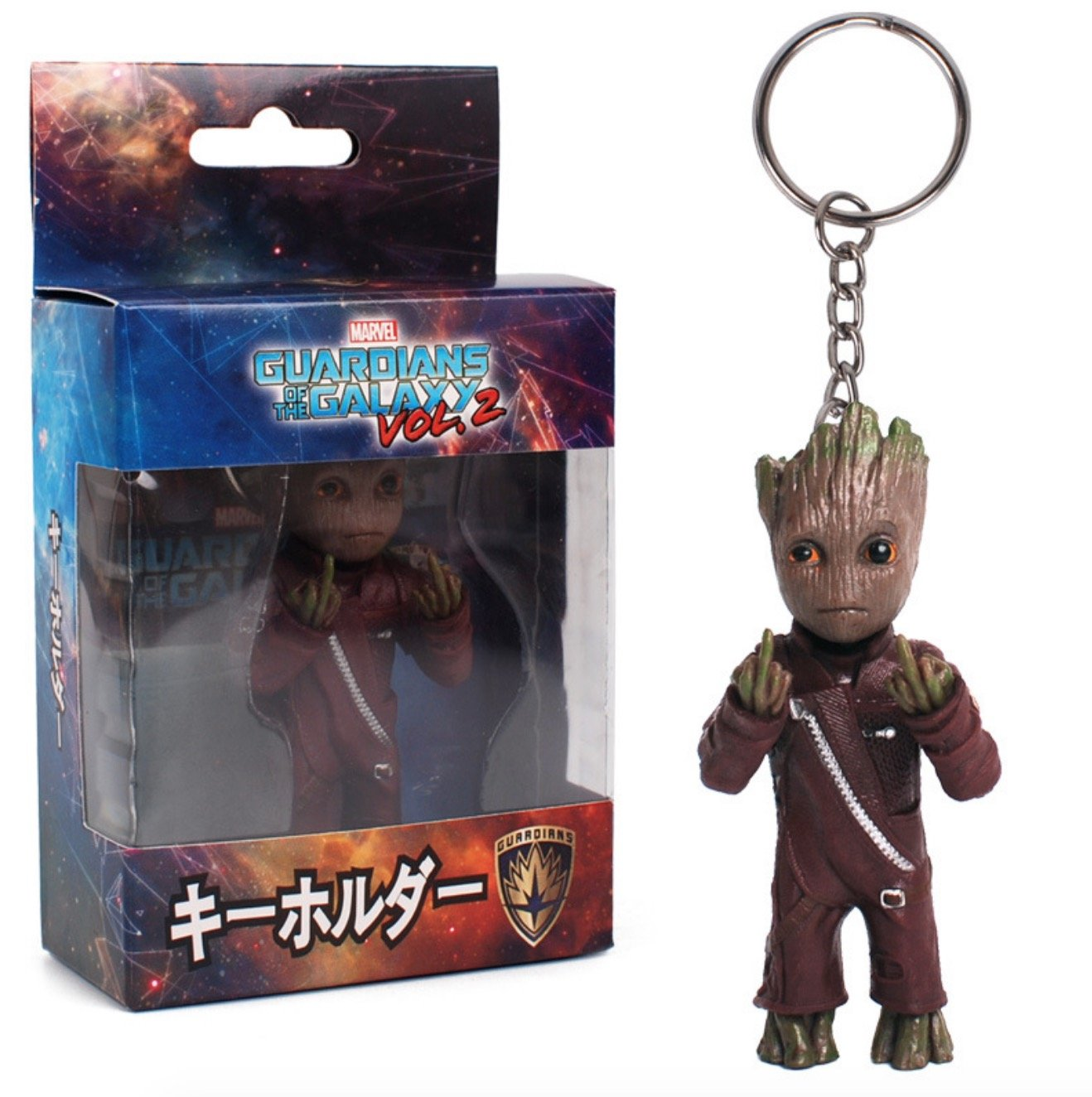 4PCS Guardians of  Galaxy Vol.2 Baby Groot PVC Action Figure Toy Car Decor Gift
