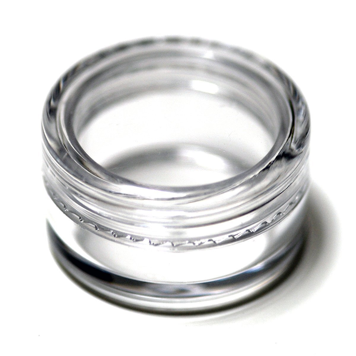 LEFV™ 100pcs Clear Empty Plastic Cosmetic Containers 5 Gram Size Pot Jars Eyshadow Container Lot Travel Sampling Bottles - Size 1 1/4