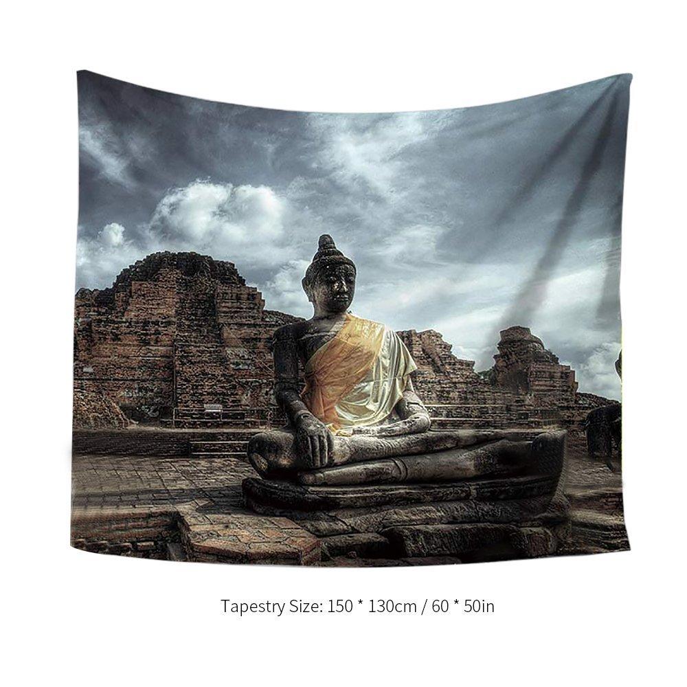 50 Pulgadas de Buda Impreso Tapiz Suave de Poli/éster Tapiz de Arte Tapestry Home Living Room Decor Decdeal 60