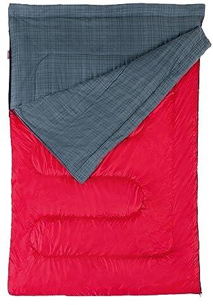 Coleman Pacific - Saco de dormir de matrimonio, color gris y rojo: Amazon.es: Ropa y accesorios