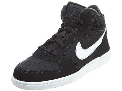ab6b0acc0f8 Nike Court Borough Mid (Preschool) Black White