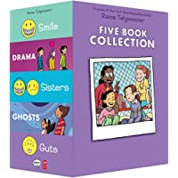 Raina Telgemeier Five Book Collection: Smile / Drama / Sisters / Ghosts / Guts