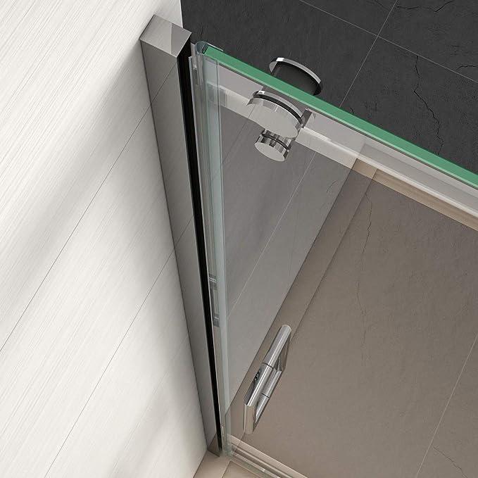 BECRISA ELIPSIS Frontal Ducha 1 Fijo+1 Corredera Transparente - Medida: 128,5-131,5 CMS: Amazon.es: Bricolaje y herramientas