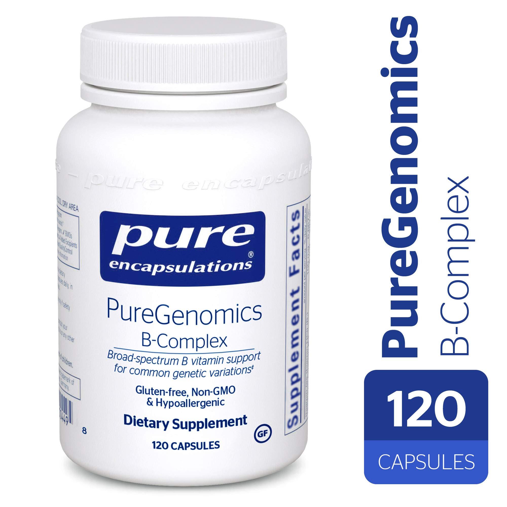 Pure Encapsulations - PureGenomics B-Complex - Broad Spectrum B Vitamin Support for Common Genetic Variations* - 120 Capsules by Pure Encapsulations