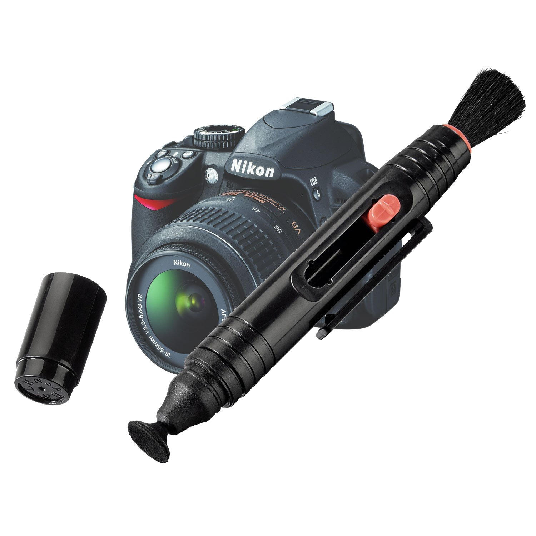 DURAGADGET Lá piz/Bolí grafo Limpiador De Polvo Y Arena Para Lente De La Cá mara Nikon D3200 Con Cepillo Y Esponja