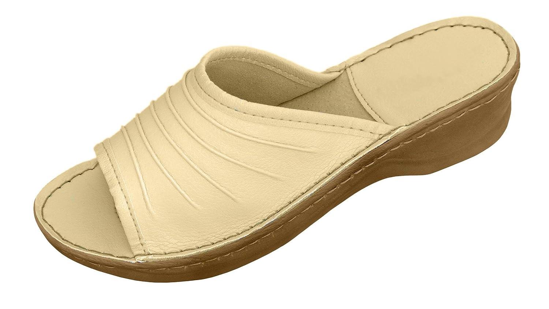Véritable en cuir 3924 pour femmes, Tongs Ivoire Insole. Chaussons couleurs orthopédiques avec différentes couleurs Ivoire 1a977e9 - fast-weightloss-diet.space
