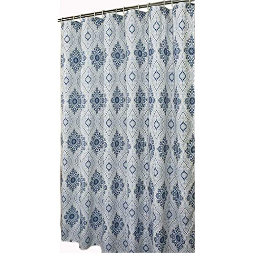 Welwo Stall Shower Curtain For Bathroom Water Repellent Fabric Mildew Resistant Washable Cloth Hotel Quality