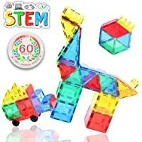 60-Pieces Mgc-Kitty Magnetic Building 3D Puzzle Castle Construction Set with Strong Magnets