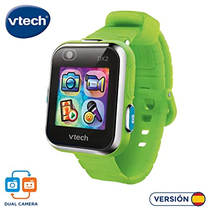 Vtech 3480-193887 Kidizoom Smart Watch DX2 - Reloj inteligente para niños con doble cámara, color verde