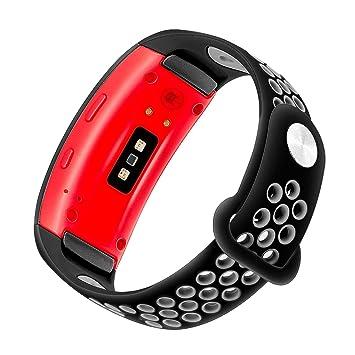 TRUMiRR Bracelet de Montre Gear Fit2, Bracelet de Sport en Caoutchouc de Silicone à Double