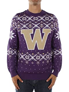 Amazon.com : NCAA College 2014 Ugly Christmas Sweater Busy Block ...