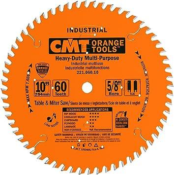 10-Inch x 60 Teeth CMT 221.060.10 Industrial Cabinetshop Saw Blade
