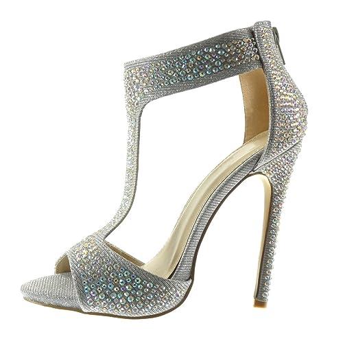 Zapatos Tacón de aguja sexy Angkorly para mujer P0elhA5p