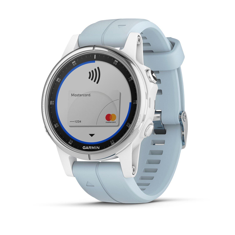 Garmin Fenix 5S Plus - Reloj GPS multideporte, color azul (celeste): Amazon.es: Electrónica