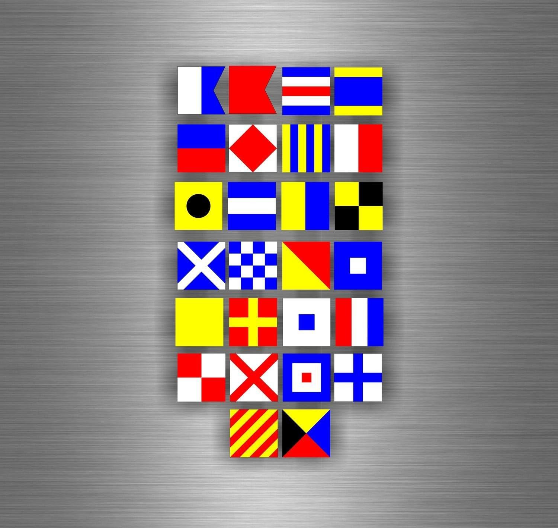 Board 26/Sticker gommette Sticker Flag Flag Maritime