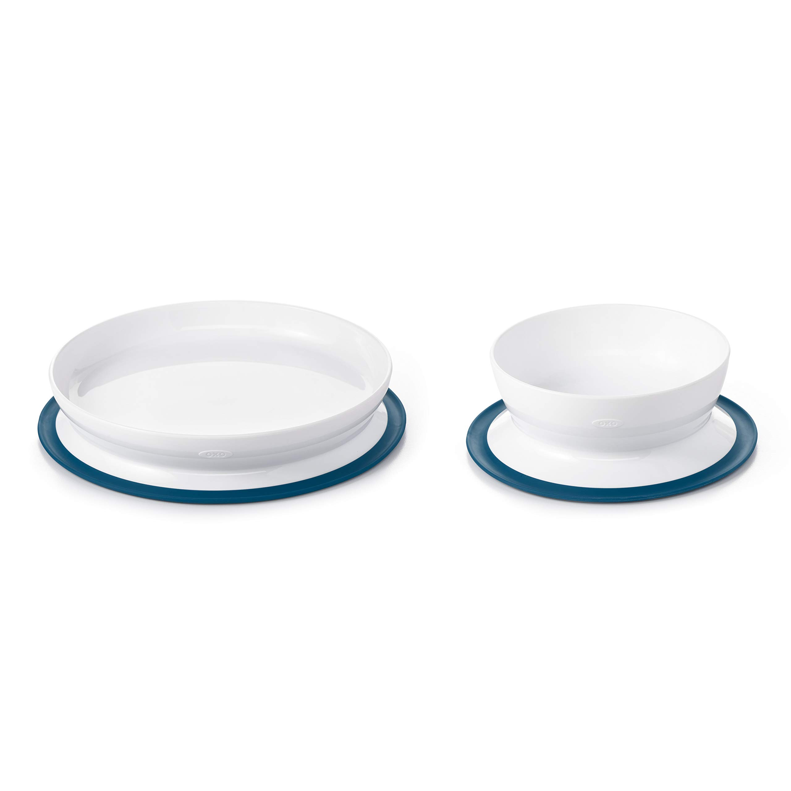 OXO Tot Stick & Stay Suction Plate & Bowl Bundle - Navy by OXO Tot