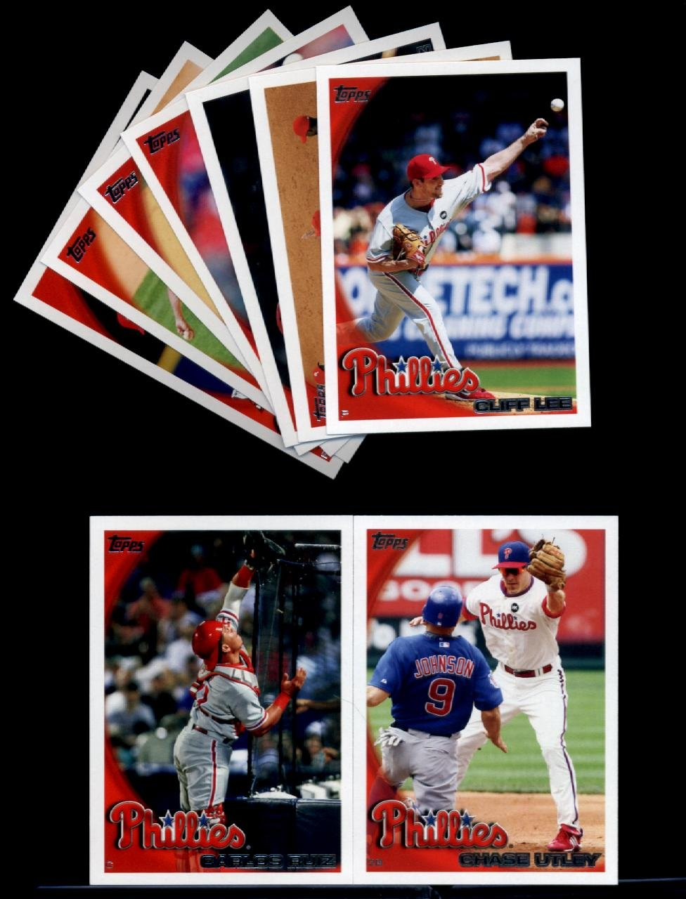 2010 Topps Baseball Cards Complete TEAM SET: Philadelphia Phillies (Series 1 & 2) 19 Cards including Utley, Howard, Victorino, Hamels, Ruiz, lee, Feliz,Werth, Rollins, Ibanez, Blanton & more!