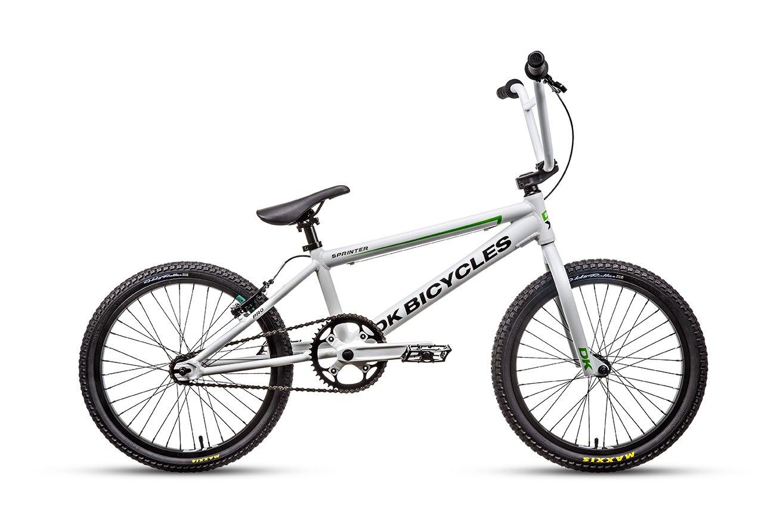 Amazon.com : DK Bicycle 2014 Sprinter Pro BMX Bike, Satin White, 20 ...