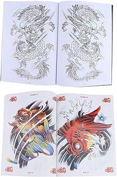 B Baosity 2pcs 48 Page Livre De Tatouage Modele De Tatouage De