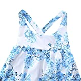 KIDSA 0-24M Baby Girl Summer Clothes One-piece Blue