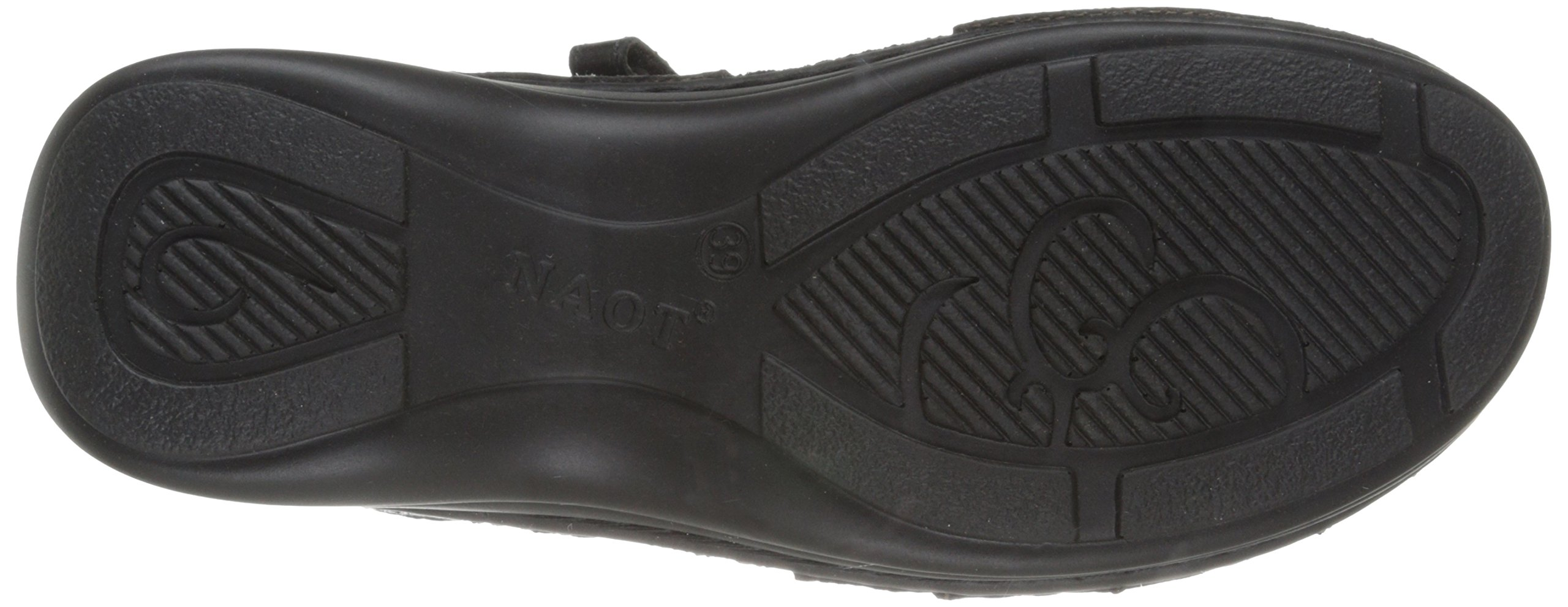 Naot Women's Papaya Flat,Black Madras Leather,40 EU/8.5-9 M US by NAOT (Image #3)