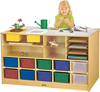 product image for Jonti-Craft 6951JC Mobile Twin Storage Island with Assorted Colored Bins