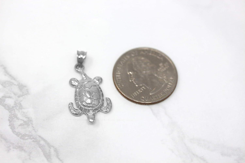 CaliRoseJewelry 10k Gold Lucky Honu Sea Turtle Tortoise Longevity Charm Pendant
