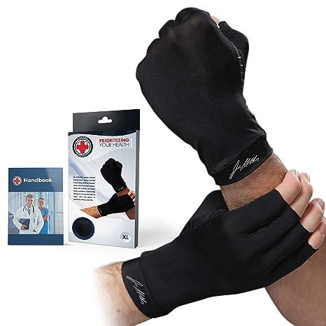 Anti Artrite Mani Rame Terapia di Compressione di Rame Guanti Ache Pain Relief