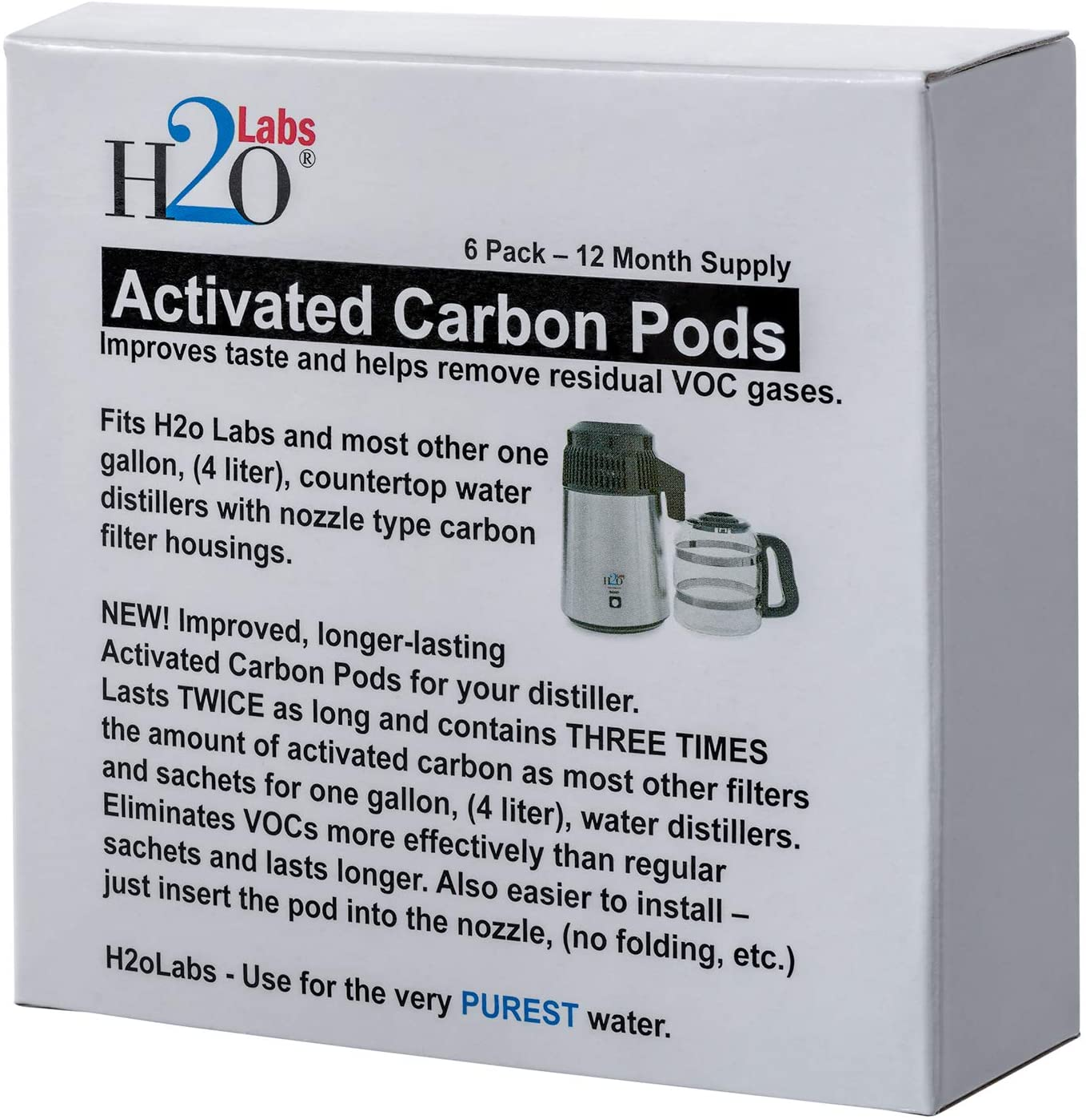 Cápsulas de carbón activado para destiladores de agua, más carbón ...